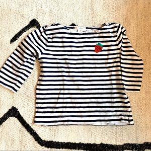 Crewcuts x Madewell Striped tee strawberry motif